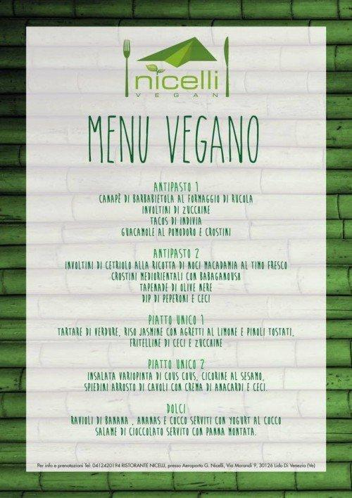 Ristorante Nicelli - menu veg 8 aprile 2016