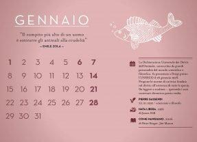 The animal calendar Vegan 2018